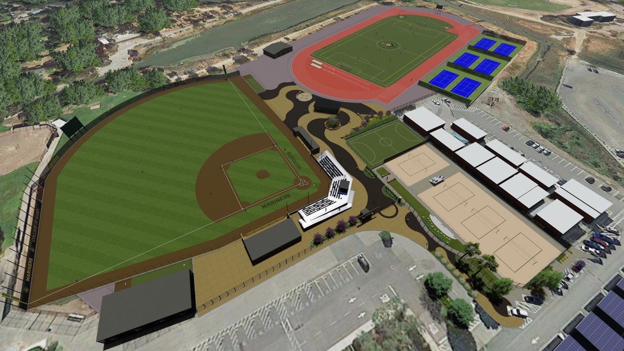 Project Summary: Replace existing natural grass field with synthetic turf baseball field, restroom facility, modular equipment storage building, score board and perimeter fencing.